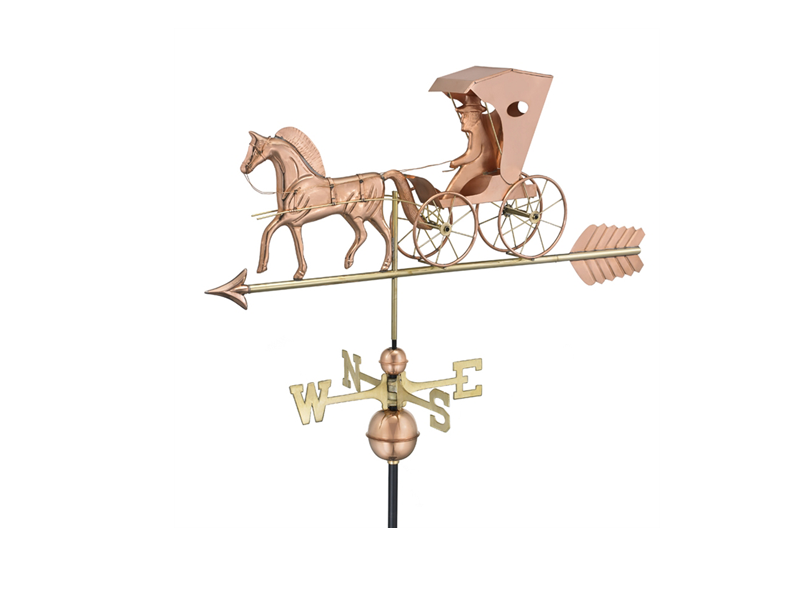 (#548P)Country Doctor Weathervane - Polished Copper Image