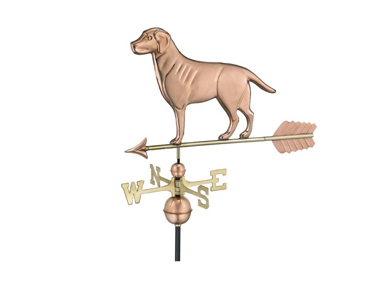 (#560P)Labrador Retriever Weathervane - Polished Copper Image