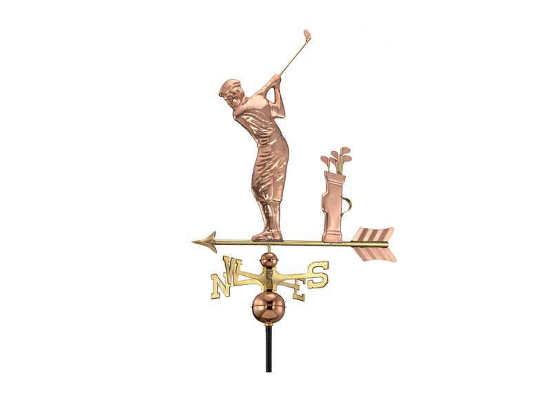 (#561)Golfer Weathervane - Polished Copper Image