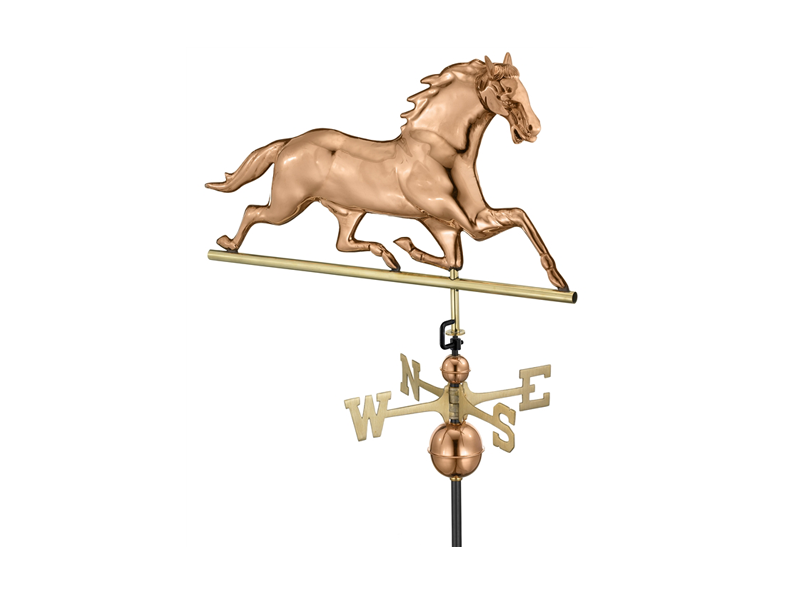 (#580) Horse Weathervane - Polished Copper Image