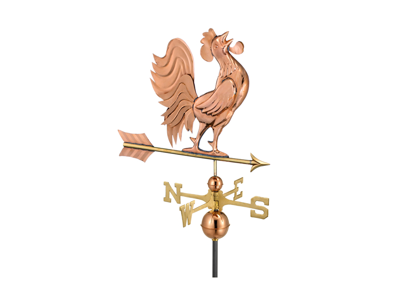 (#637) Crowing Rooster Weathervane Image