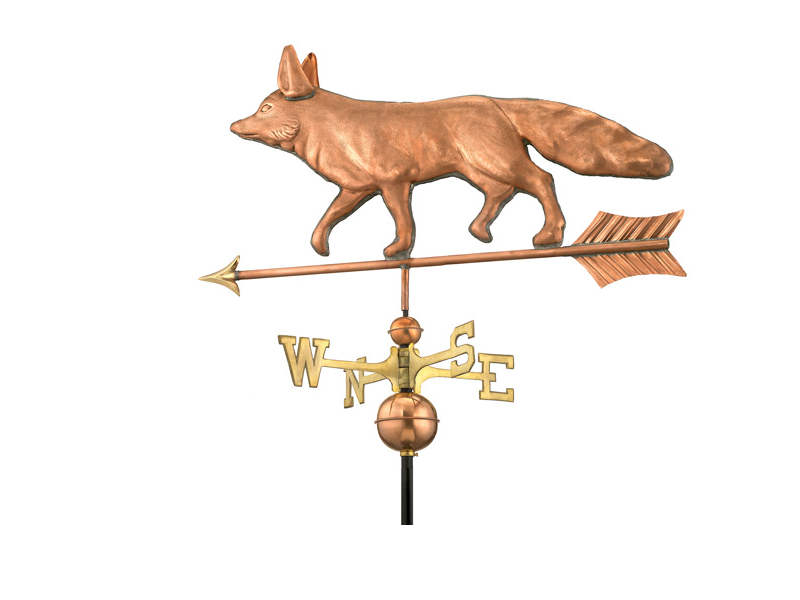(#655P)Fox Weathervane- Polished Copper Image