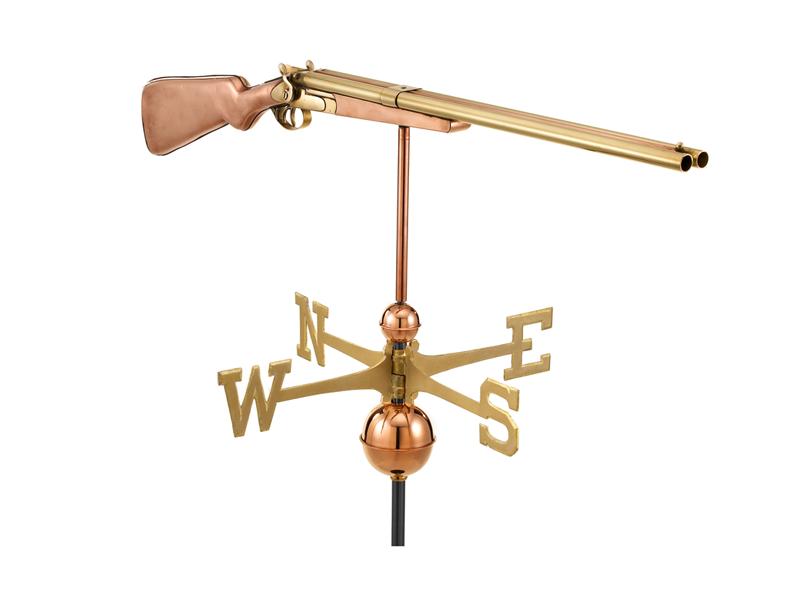 (#693P) Vintage Shotgun Weathervane - Polished Copper Image
