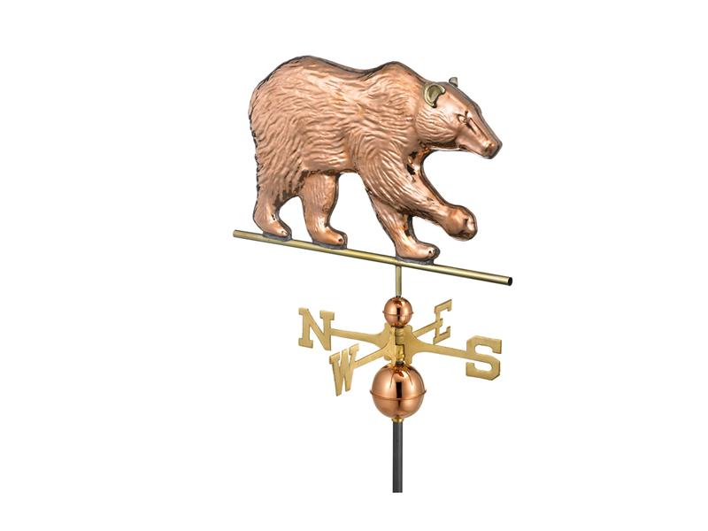 (695) Bear Weathervane - Polished Copper Image