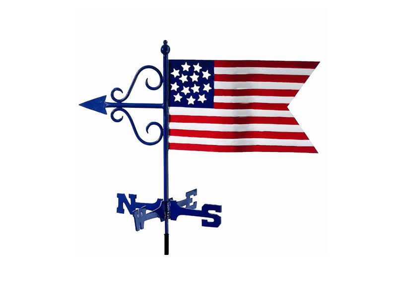 (#836) American Flag Weathervane Image