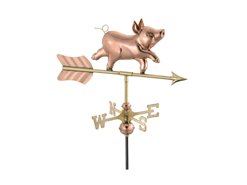 (#8800) Whimsical Pig Weathervane Image