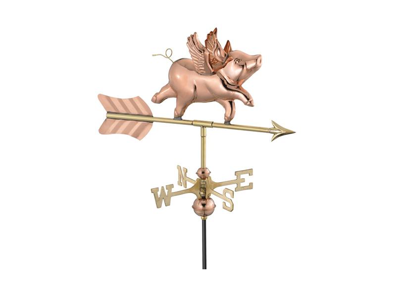 (#8840) Flying Pig Weathervane Image