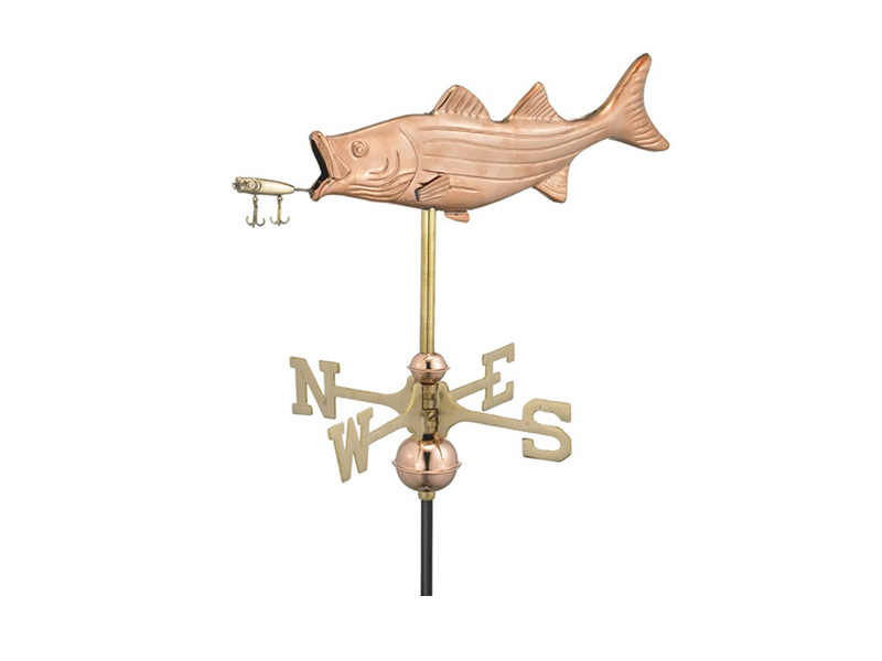 (#8847) Bass & Lure Weathervane Image