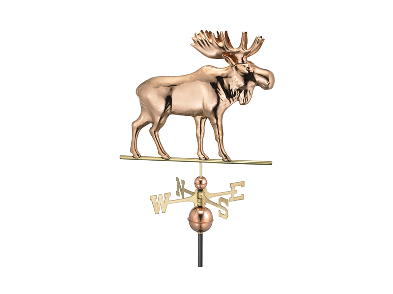 (9557) Moose Weathervane - Polished Copper Image