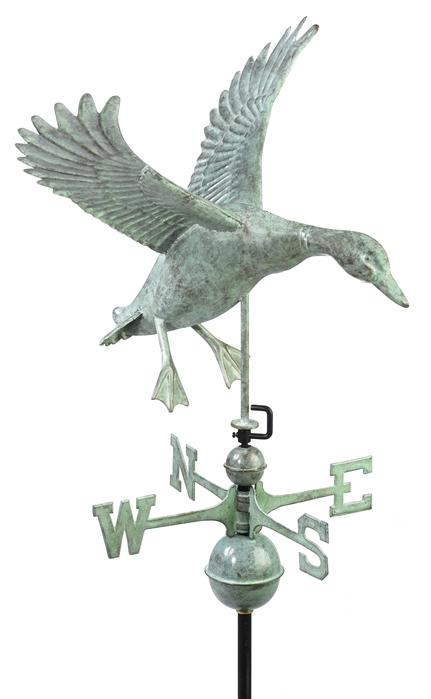 (9605) Landing Duck Weathervane Image
