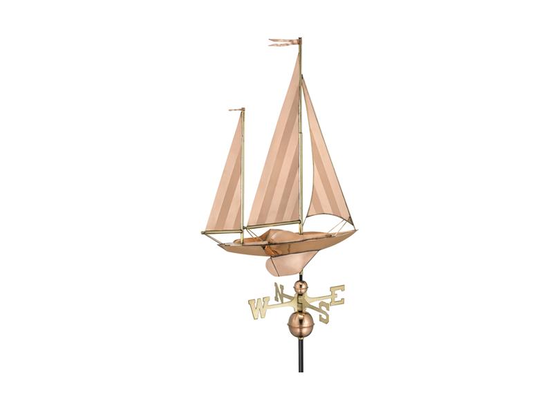 (9907) Large Sailboat Weathervane Image